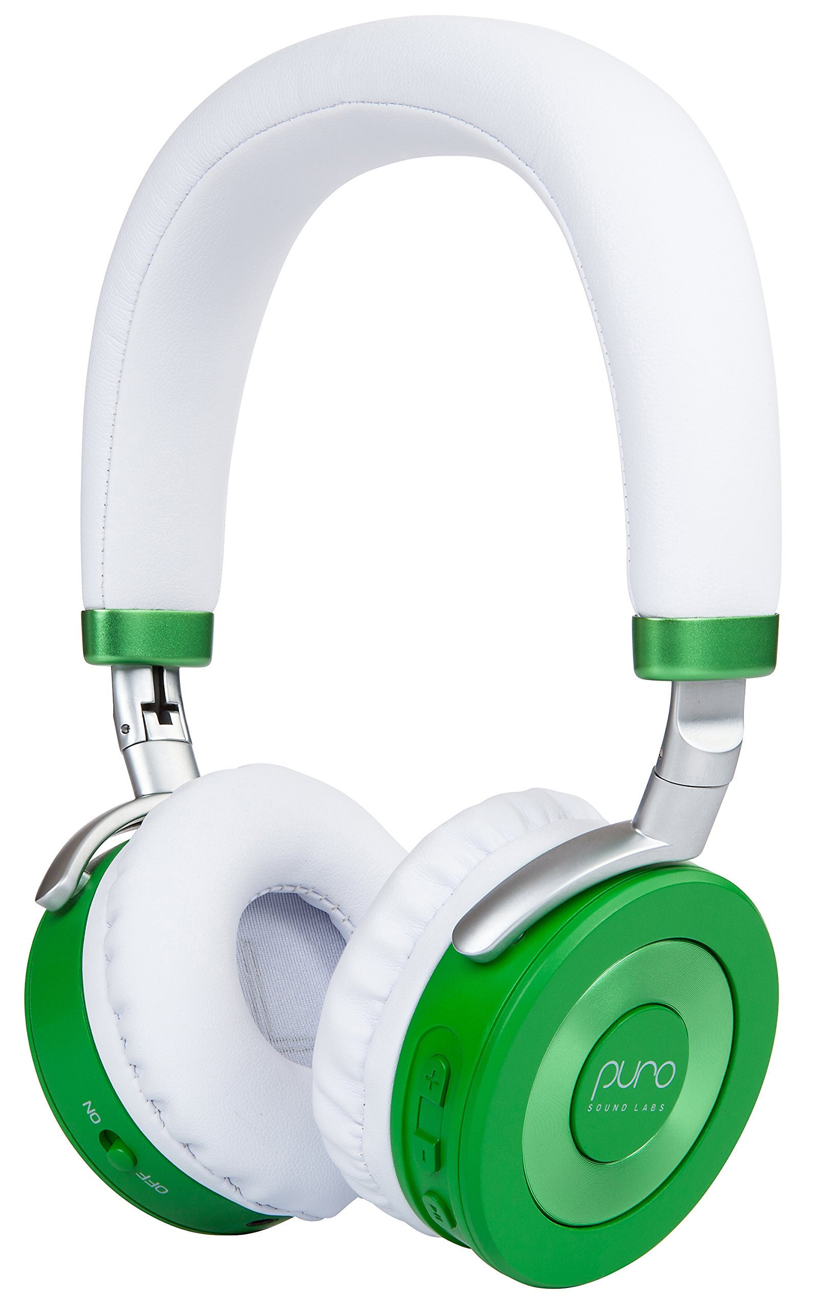 Puro Sound Labs JuniorJams Over-Ear Headphones Wireless Foldable Kids Earphones with Bluetooth, Volume Limiting, Lightweight and Noise Isolation for iPhone/Android/PC/Tablet - JuniorJams Green