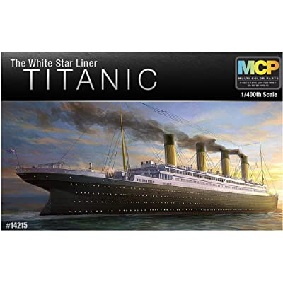 Academy 14215 The White Star Liner Titanic, 1/400 Scale Plastic Model Kit: Toys & Games