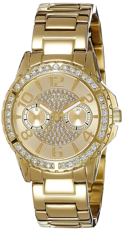 Guess Damen-Armbanduhr Analog Quarz Edelstahl W0705L2