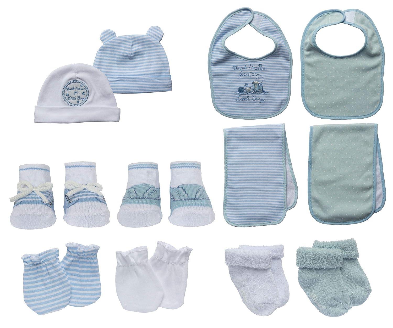 Little Me 13 Piece Take Me Home Set, Blue White, 0-12 Months