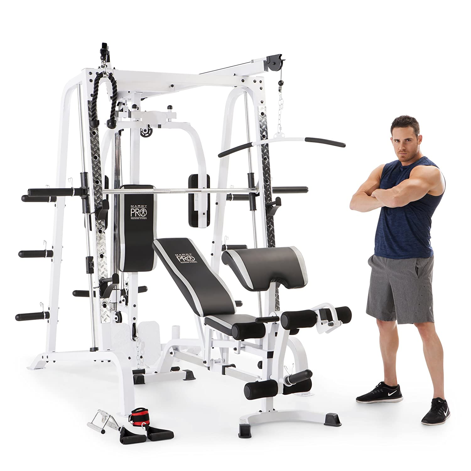 Amazon.com : Marcy Diamond Smith Cage Home Gym System : Sports & Outdoors
