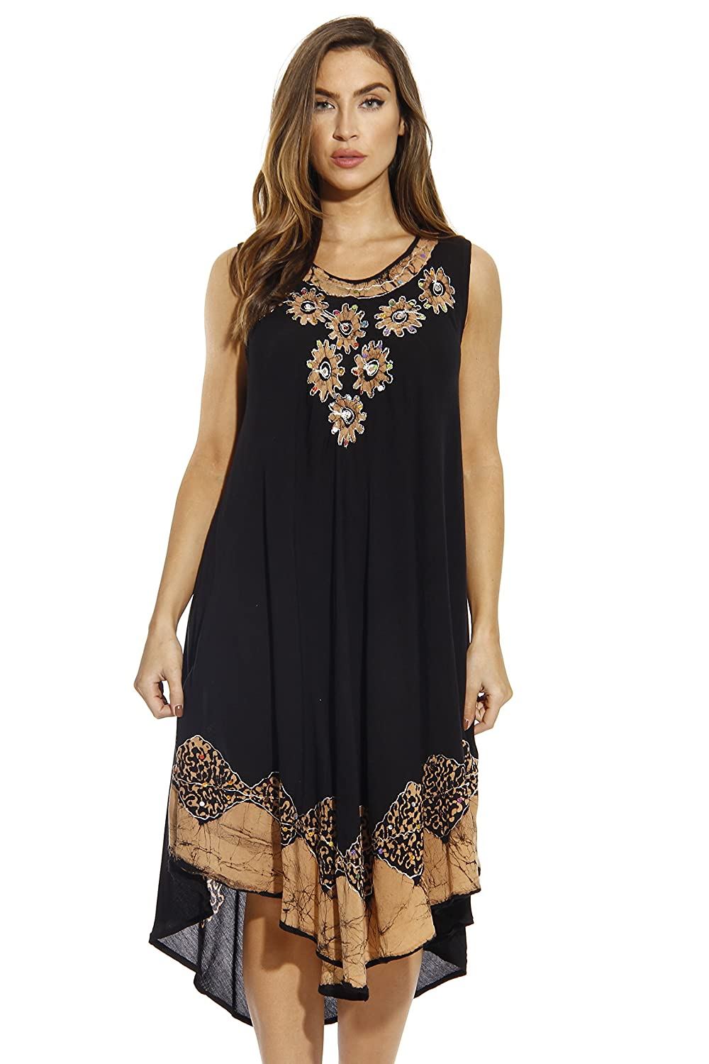 Riviera Sun Batik Embroidered Dress Sundresses For Women