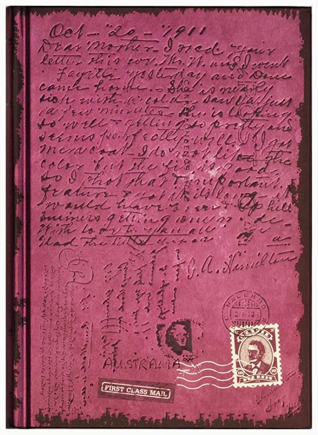 Cuaderno / Diario: First Class Mail, color púrpura brillante ...