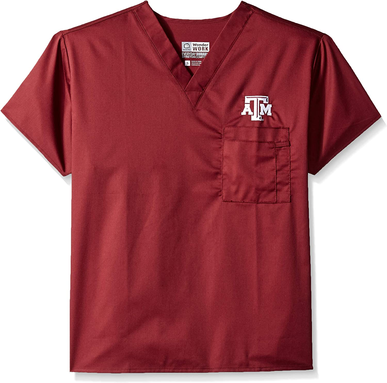 WonderWink Texas A&m University V-Neck Top: Clothing