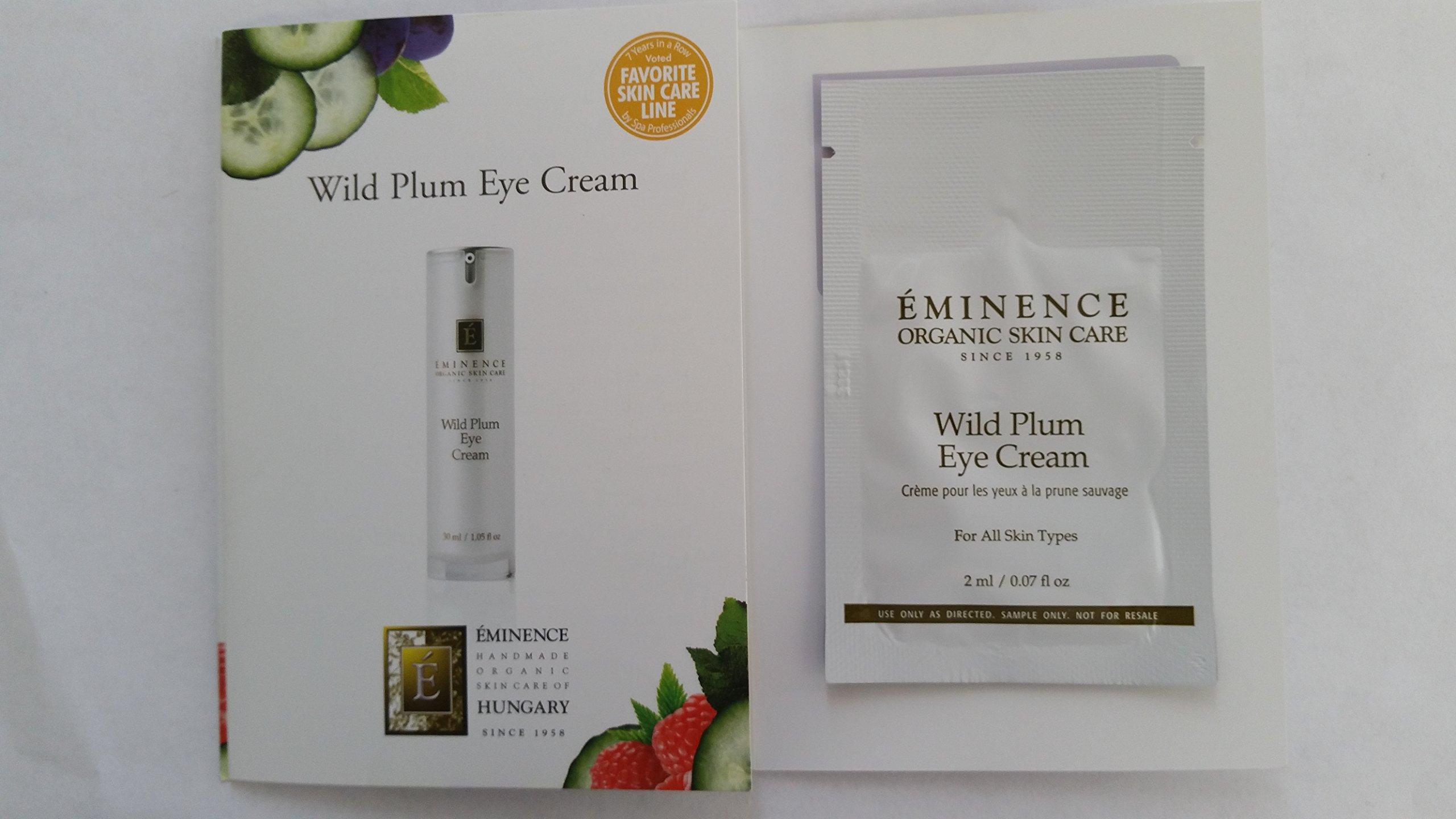 eminence Wild Plum Eye Cream Sample Set of Six Travel Size 100% Fresh Organic by Eminence (Image #1)