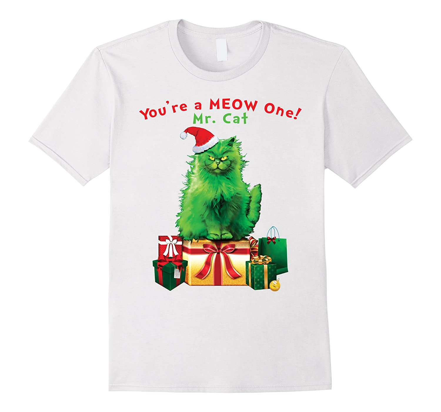 3d60d94c83d You're A MEOW One Mr. Cat Christmas Holiday Funny T-Shirt-ANZ