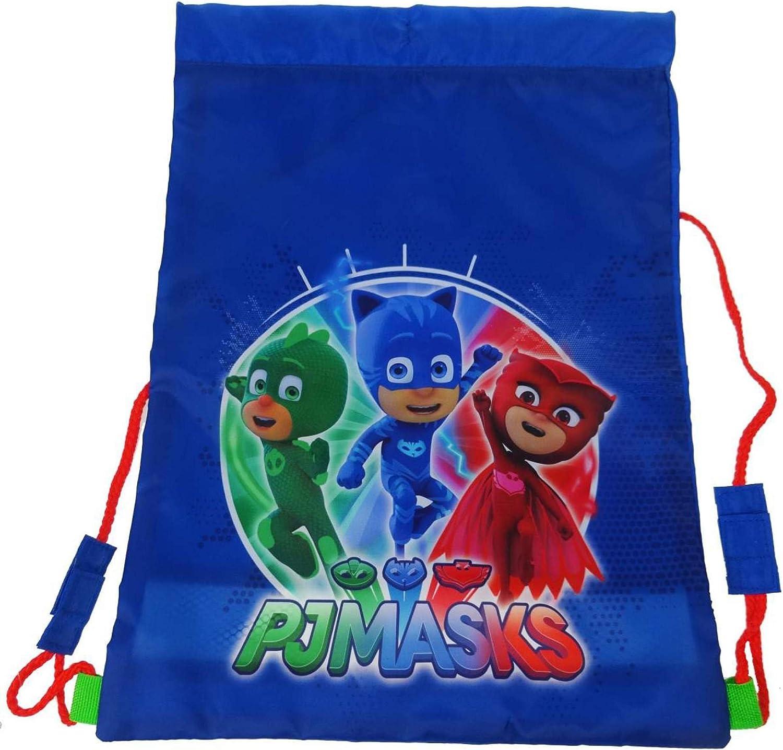 PJ Masks - Bolsa deportiva para niños, 44 cm, color azul