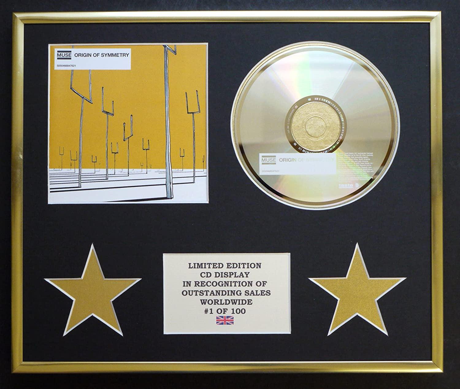 MUSE//CD DISPLAY//LIMITED EDITION//COA//ORIGIN OF SYMMETRY
