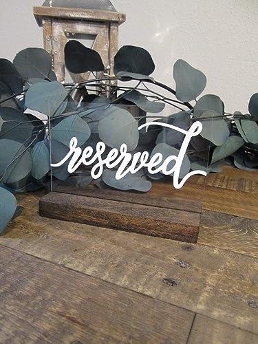 Amazon com: Acrylic reserved signs- Modern wedding decor
