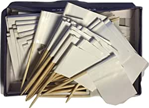 Box of 100 Solid White Blank Toothpick Flags Dinner Flags Cocktail Flags Ships Fast Windstrong