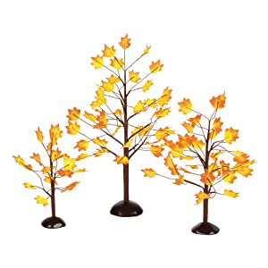 Department 56 Village Autumn Maple Trees (Set of 3)