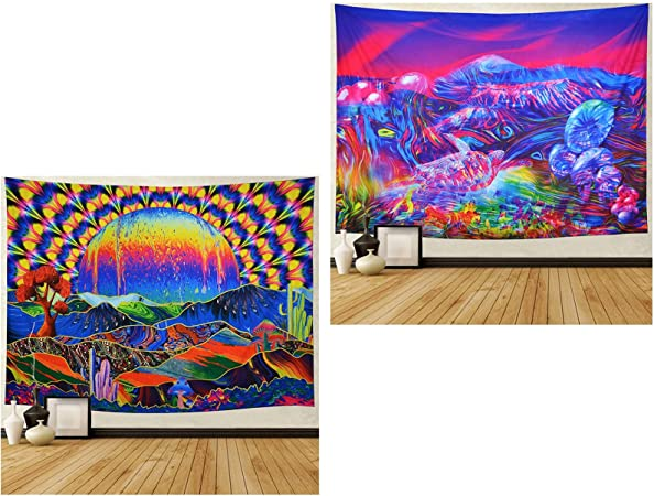 psychedelic trippy wall hanging tapestry cool wall tapestry