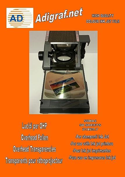 Película de Transparencia de Acetato OHP A4 para Impresoras de ...
