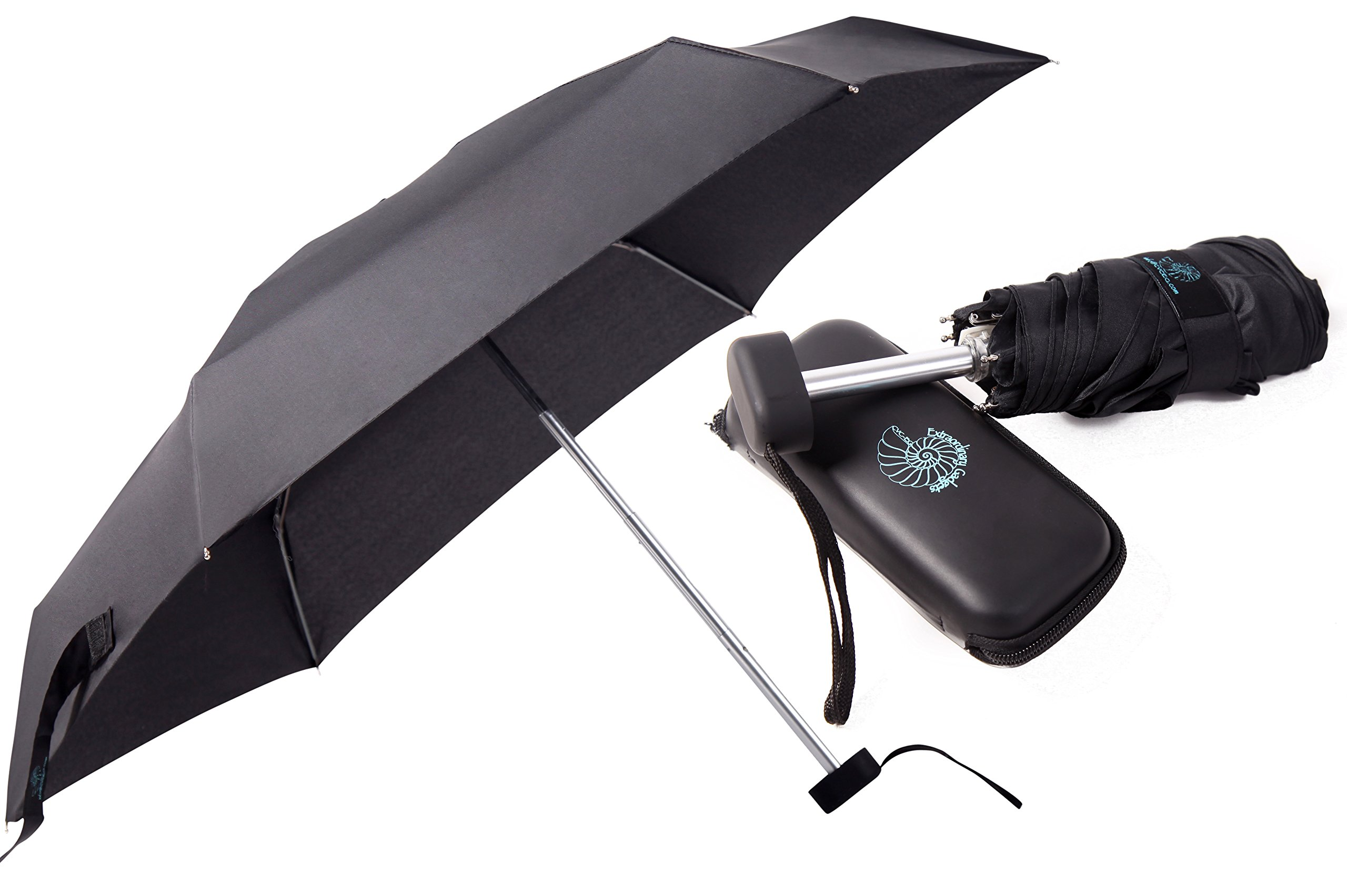 CVC-EG Compact Umbrella, Mini Umbrella - Small Umbrella for Travel - Pocket-Size Perfect for Purse, Backpack - Waterproof Case and Fabric Case