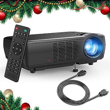 Proyector Tenker HDMI, 1080p, 3200 lumen LCD Proyector de cine en casa para cines y videojuegos para interiores y exteriores