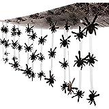 12 Ft. - Plastic Spider Ceiling Decoration - Great Halloween Decoration
