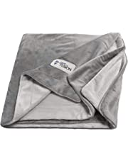 PetFusion Premium Medium Dog Blanket (44x34). Reversible Gray Micro Plush. [100% Soft Polyester]