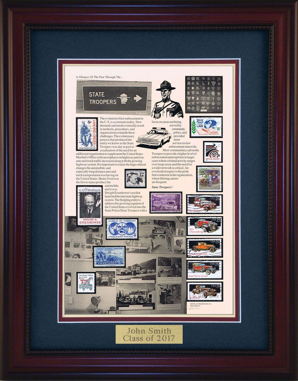 State Trooper - Unique Framed Collectible (A Great Gift Idea) with Personalized Engraved Plate