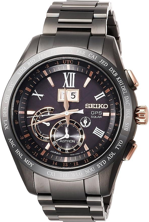 [セイコーウォッチ] 腕時計 アストロン BIG-DATE チタンモデル SBXB141 メンズ ブラック