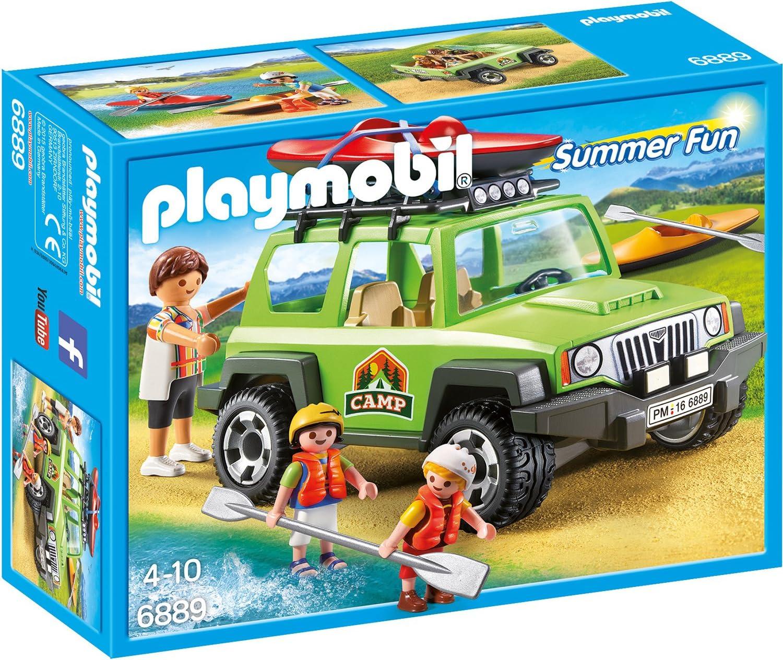 Playmobil Summer Fun 6889 Camp-Geländewagen Jeep mit Boot