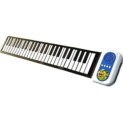 ELECITI Piano electrónico ideal para niños, elástico con función demo, ritmos, melodías, tonos, altavoz incorporado