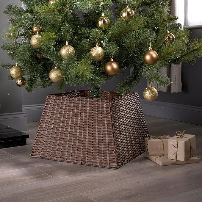 Base de mimbre para decorar el árbol de Navidad: Amazon.es: Hogar