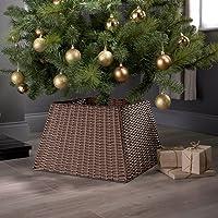 Base de mimbre para decorar el árbol