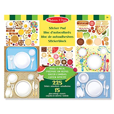 Melissa & Doug Sticker Pad - Make-a-Meal, 225+ Food Stickers: Toys & Games