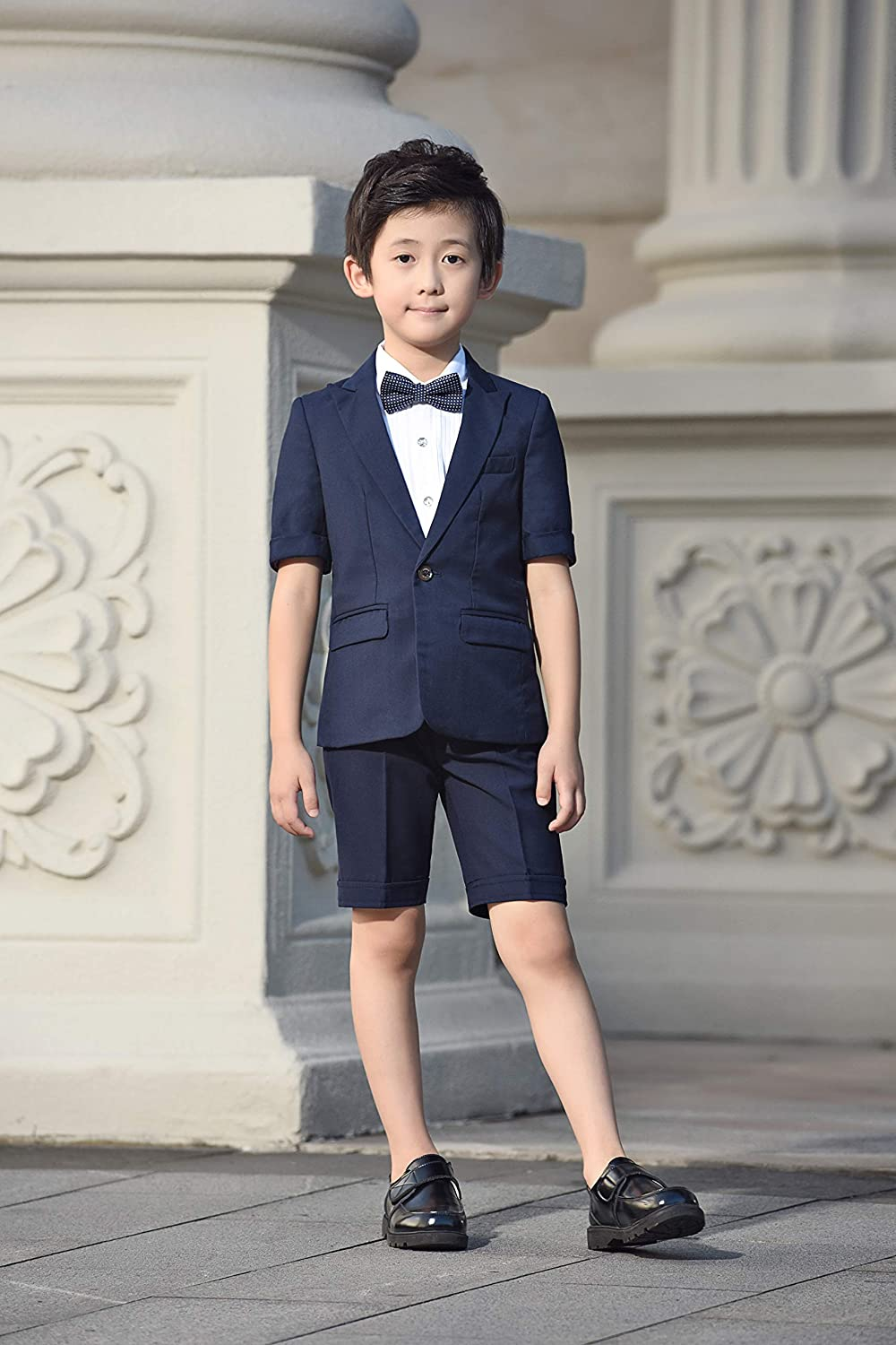 Hibabe Suits for Boyss 5 Sets Slim Fit Style by Handed Sizes 2T-14