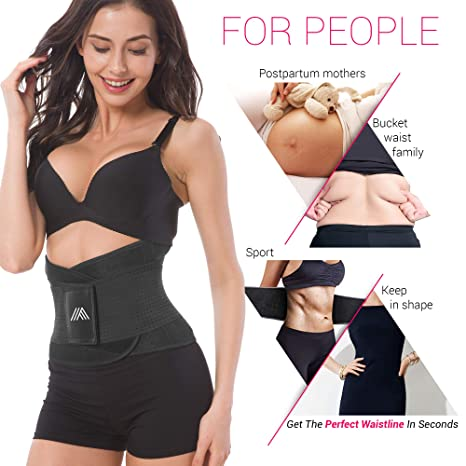 b53f8db0ee Adjustable Back Support Belt for Women - Abdominal Elastic Waist Ab Cincher  Trainer Trimmer - Neoprene Hourglass Slimming Body Shaper Sport Girdle for  ...