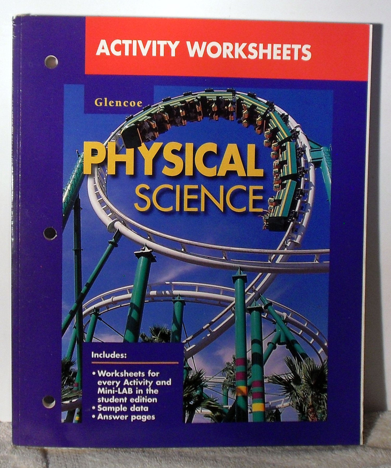 worksheet Glencoe Physical Science Worksheets activity worksheets glencoe physical science glencoemcgraw hill 9780028278810 amazon com books