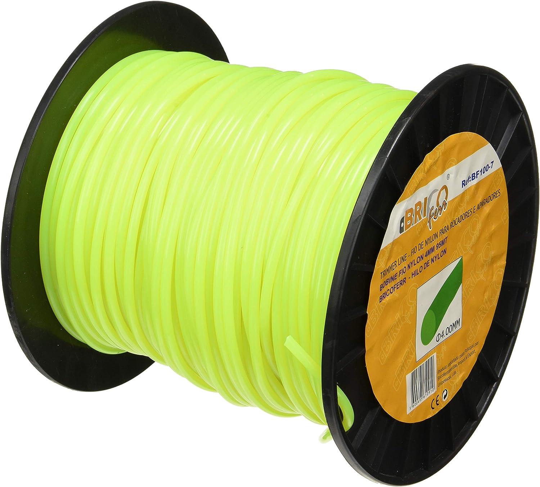 Bricoferr BF100-7 Hilo para desbrozadora (4 mm x 95 Metros, Redondo): Amazon.es: Bricolaje y herramientas