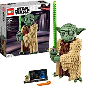 LEGO Star Wars: Attack of The Clones Yoda 75255 Yoda Building Model and Collectible Minifigure with Lightsaber (1,771 Pieces)