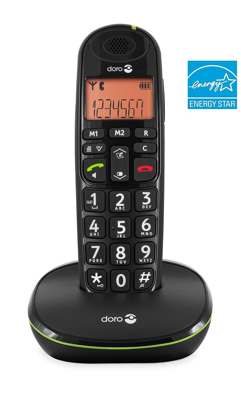 Ladeschale, Freisprechen schwarz Doro PhoneEasy 100w Duo DECT Schnurlostelefon mit zus/ätzlichem Mobilteil