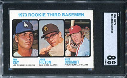 Mike Schmidt 1973 Topps Rookie Card Sgc At Amazons Sports
