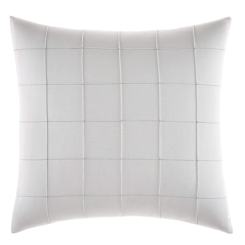 White Vera Wang Shibori Grid Throw Pillow 15x20