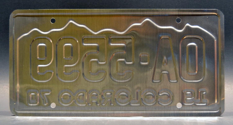 Metal Stamped Vanity Prop License Plate Celebrity Machines OA5599 OA 5599 Vanishing Point 1970 Dodge Challenger