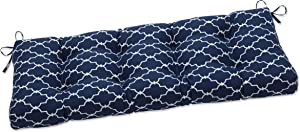 Pillow Perfect Indoor Garden Gate Navy Outdoor Tufted Bench Swing Cushion, 48 X 18 X 5, Blue
