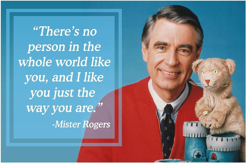 Amazon Com Vincit Veritas Mr Rogers Neighborhood Quote Daniel Tiger Poster Decor Teaching Kids Kindness P016 Home Kitchen