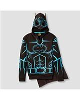 DC Comics Batman Glow-in-The-Dark Boys' Fleece Hoodie Sweater - Detachable Cape
