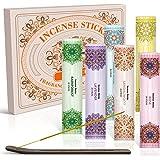 SCENTORINI Incense Sticks, Incense Sticks Gift Set, Incense Sticks with Holder, 6 x 20 Sticks