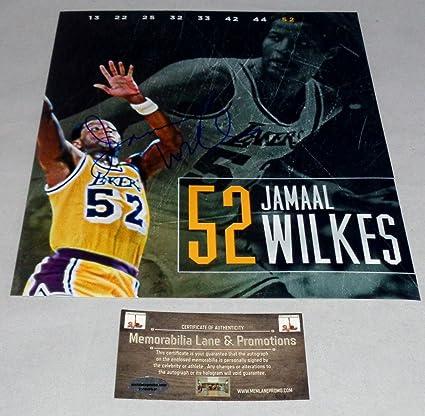 94dc06c1c56 Jamaal Wilkes LAKERS autograph 8x10 COA Memorabilia Lane   Promotions