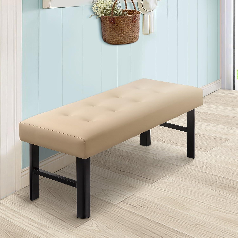 Olee Sleep OLR18BB02F Tall Memory Foam Padded Upholstered Bench/Cushiony/Modern Grantec Co. Ltd