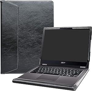 "Alapmk Protective Case Cover for 13.3"" ACER CHROMEBOOK Spin 13 CP713-1WN & CHROMEBOOK 13 CB713-1W & Acer Chromebook Enterprise 13 Laptop [Note:Not fit Acer Chromebook R 13 CB5-312T],Black"
