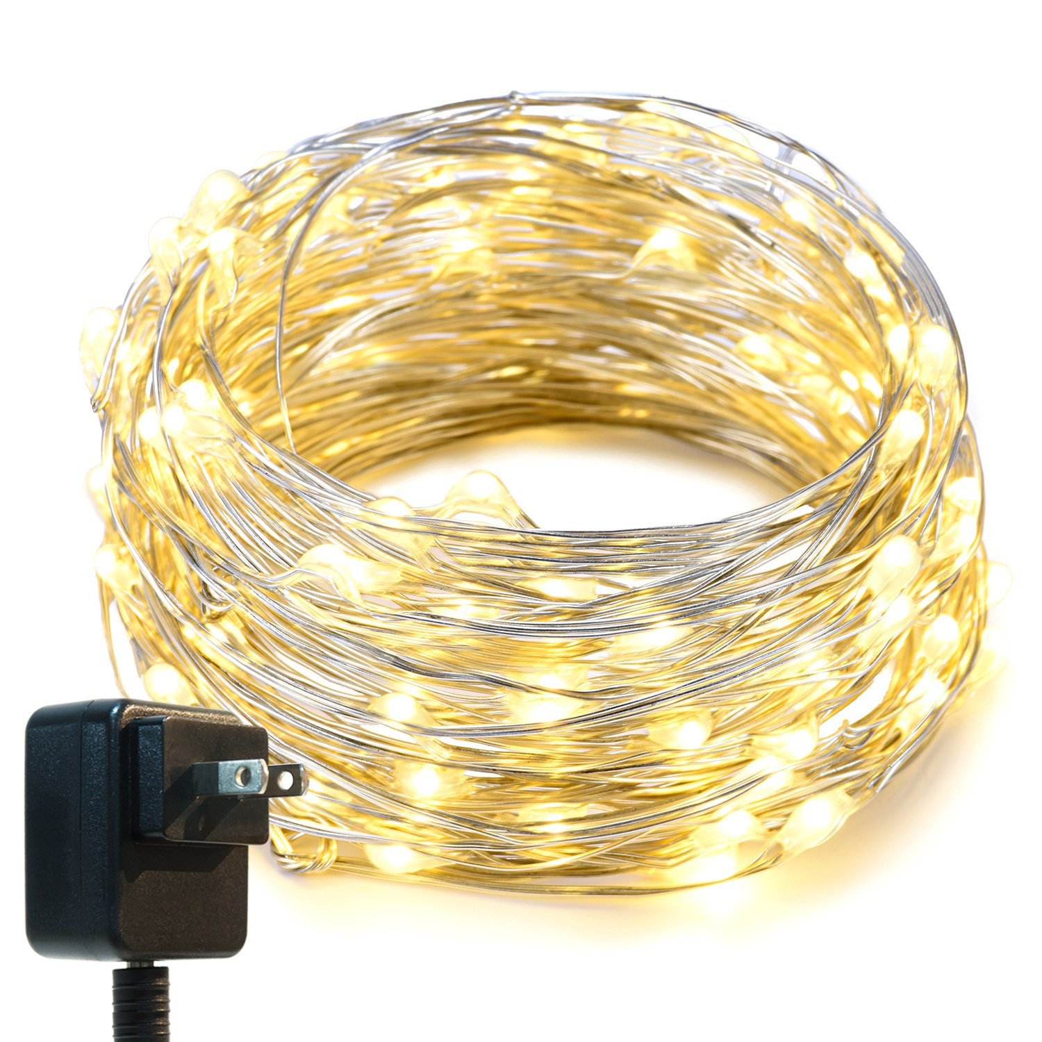 String Lightsoak Leaf 33Ft Led Starry Lights With Ul Certified 3V Power Adapt.. 14