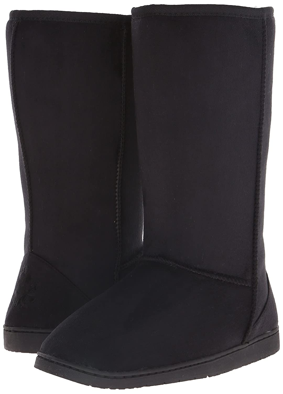 DAWGS Womens 13 Inch Microfiber Faux Shearling Vegan Winter Boots B001KIW0MC 11 B(M) US|Black