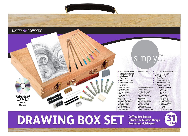 Daler Rowney Simply Drawing Wood Box Set by Daler Rowney