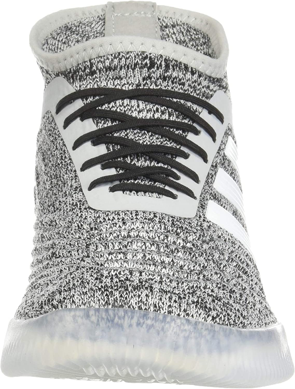 Grey//White//Blue adidas Mens Predator 19.1 TR Soccer Shoes