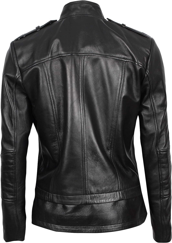 fjackets Chris Red Galaxy Leather Jacket Black - Monica Womens Jacket 7O9lH