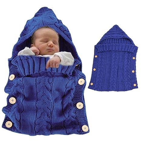 Vandot Saco de Dormir de bebé Invierno Wrap Manta para niños mantita-arrullo con capucha diseño ...